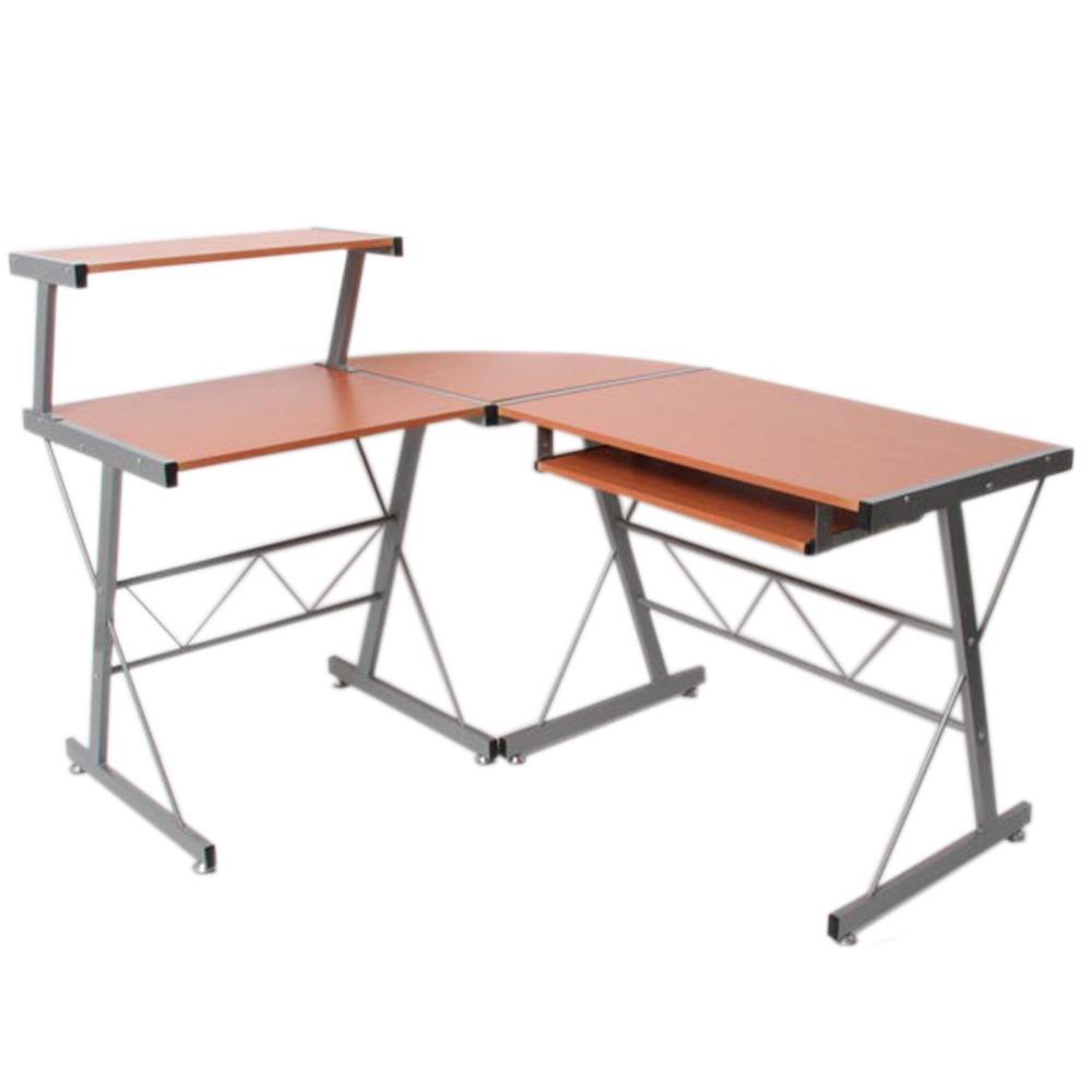 Mesa de ordenador easy line madera color haya - Mesas de ordenador de diseno ...