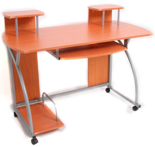 Mesas de ordenador escritorios y mesas de oficina - Mesa para ordenador con ruedas ...