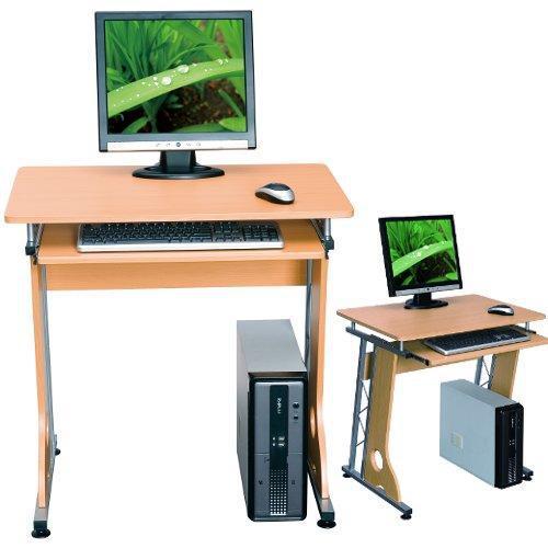 Mesa de ordenador dise o smart en color haya mesa para - Mesa portatil ordenador ...