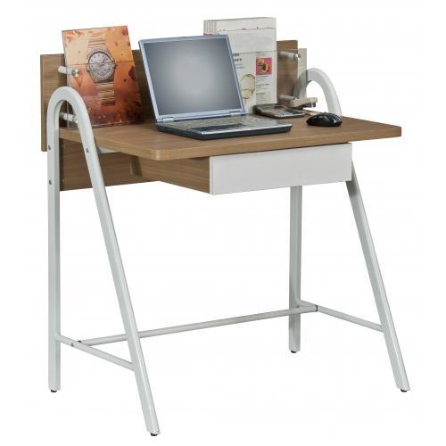 Mesa de ordenador dise o galileo en madera con balda en for Mesas de vidrio de diseno
