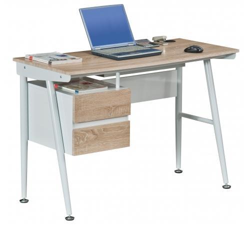 Mesa para ordenador port til viking en metal con cajones - Estructura metalica mesa ...